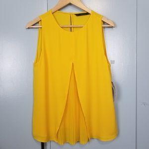ZARA Trafaluc yellow sleeveless top size M
